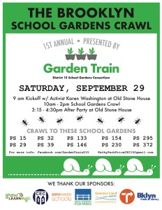 The Garden Train's School Garden Crawl is on Saturday, September 29, and it Kicks Off at the Old Stone House in Brooklyn
