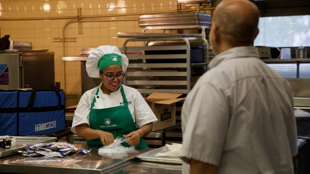 Food Supervisor Malajati Speaks with Cook