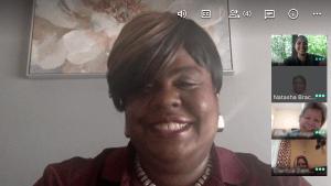 Principal Bracey-Ferguson During a Google Meet