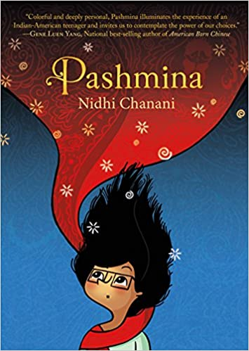 """Book cover for the title, """"Pashmina"""""""