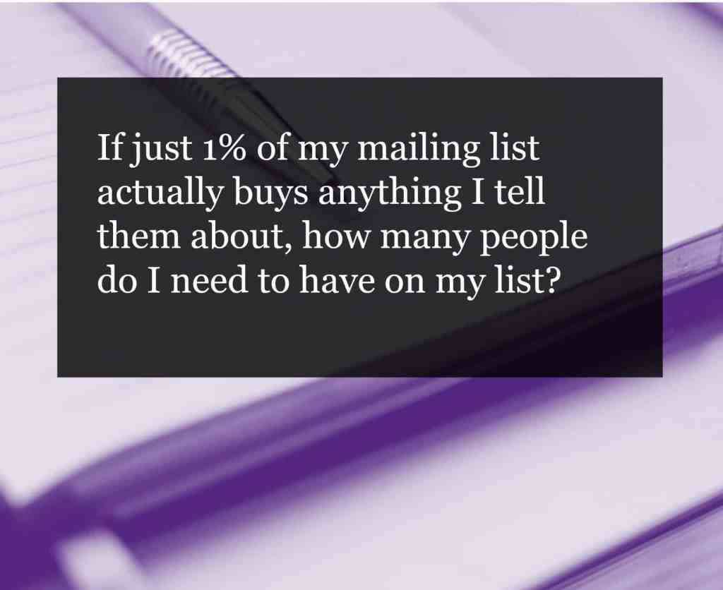 Start building your mailing list. Here's why I recommend it and some tips to help you