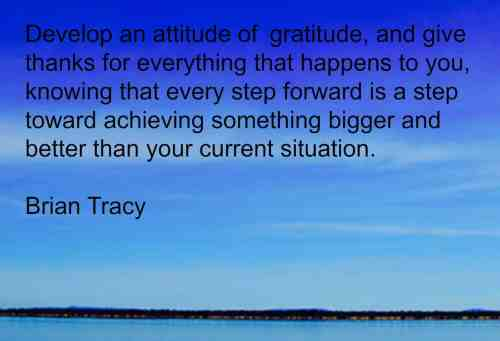 Brian Tracy quote on gratitude. Clcik through for more on the power of gratitude in Business