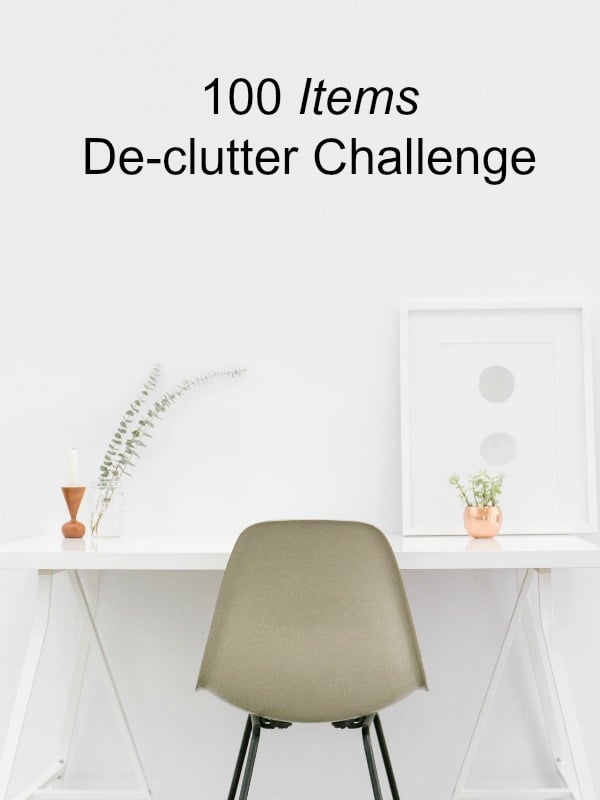 De-clutter your home and/or workspace. I truly believe that a de-cluttered home / office means a de-cluttered mind