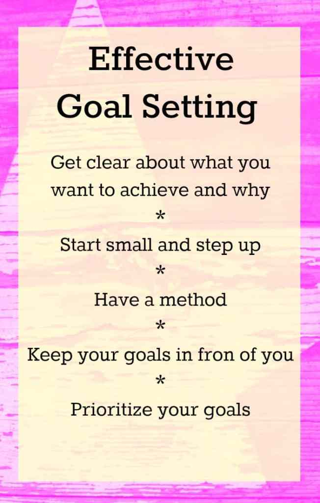 Effective goal setting tips - Helping you to set effective goals, stay focused and achieve your goals.
