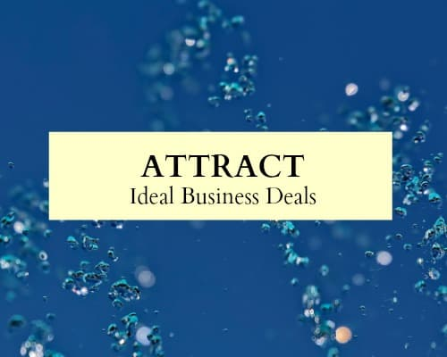 Use the law of attraction in business to attraction your ideal business deals.