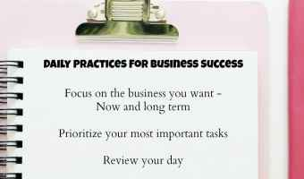 3 daily practices for business success