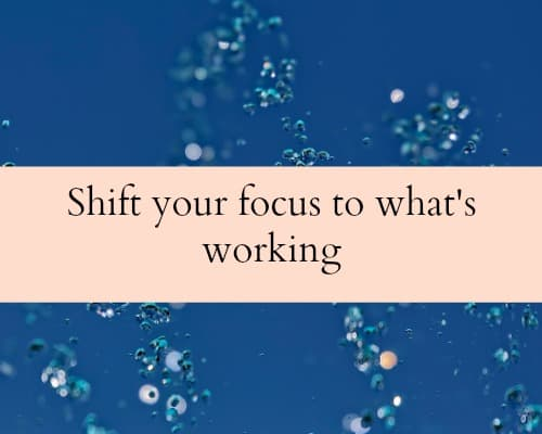 Shift your focus to what's working in your business