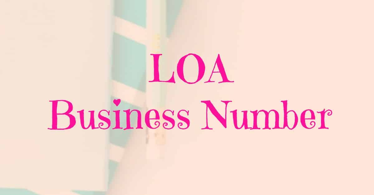 LOA Business Number - Find out what your law of attraction business number is and how it can guide you to success.