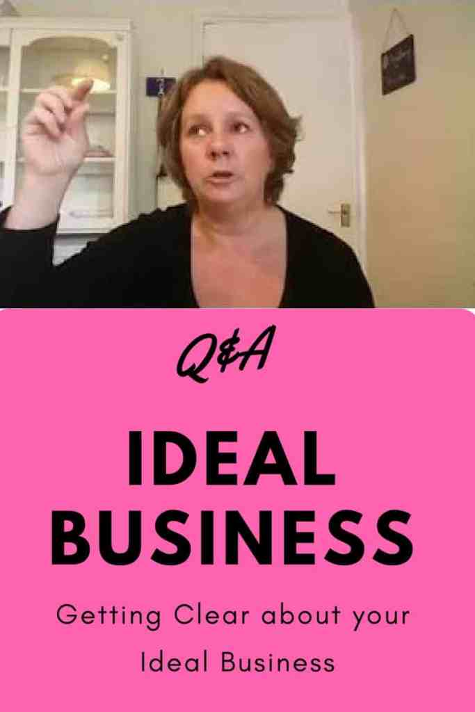 Tips for creating your ideal business. Here I'm answering some questions I've been asked about describing your ideal business. Click through for my free workbook and advice on getting clear about your ideal business, whatever that means to you personally. Using the law of attraction to manifest the business you really want.