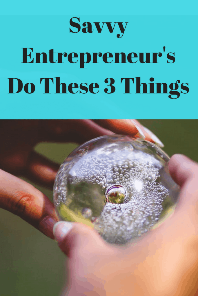 The Savvy Entrepreneur Can Do These 3 Things