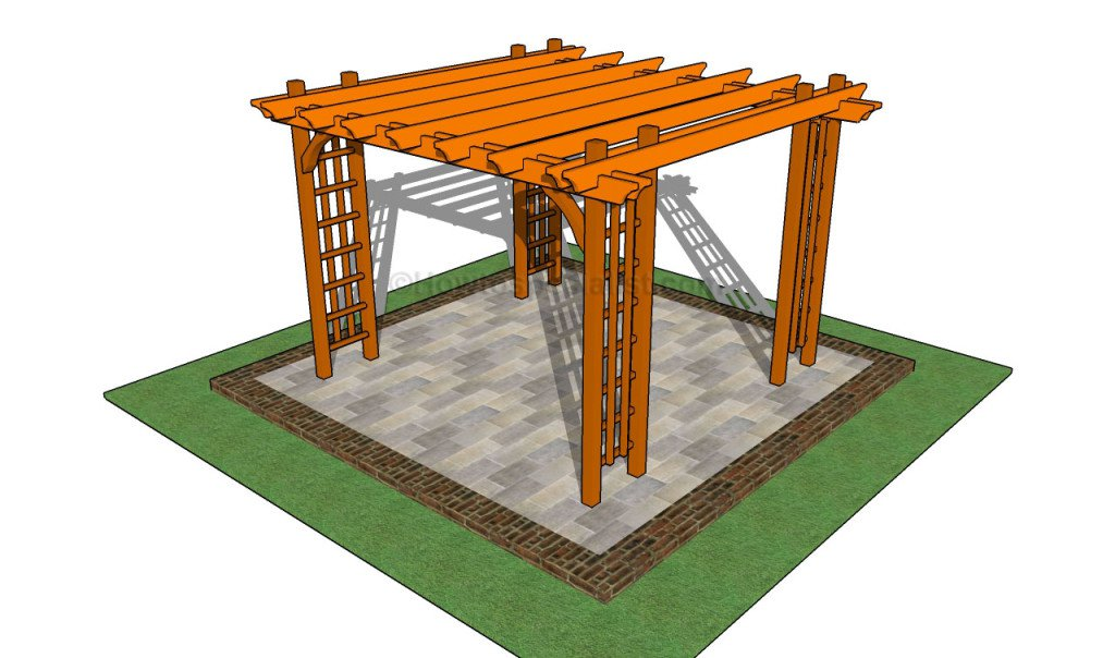 These Plans Are Meant To Show You How To Build A Pergola Over A Patio. If  You Are Fortunate Enough To Have Such A Great Little Sitting Area, A Pergola  Will ...