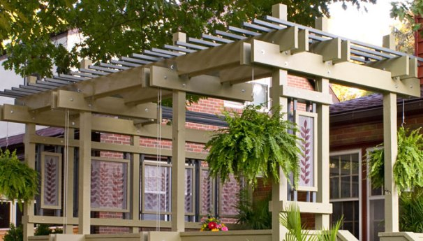 The Plant Hanger Pergola - 51 DIY Pergola Plans & Ideas You Can Build In Your Garden (Free)