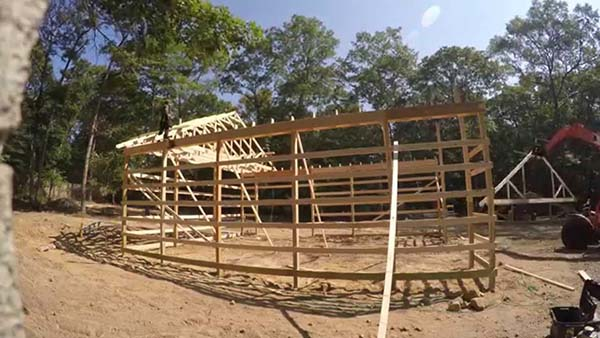 153 pole barn plans and designs that you can actually build for How to build a pole shed step by step