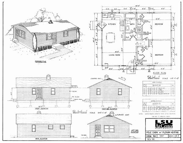 Cabin Plans LSU Ag Center