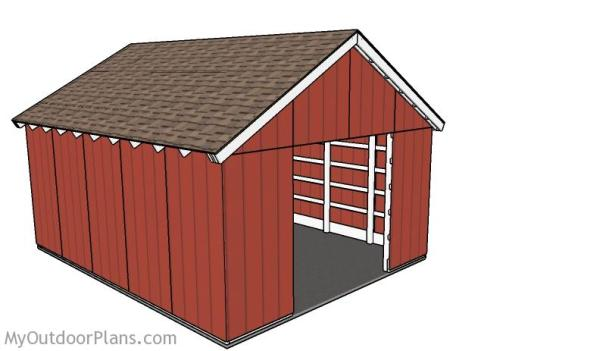 These Are Free Pole Barn Plans Yes That Always Makes This One Worth Giving It A Second Look Is 16x20