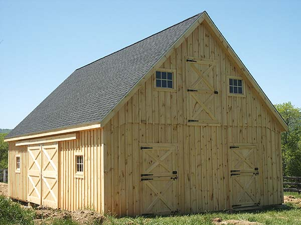 horse and garage barn plans
