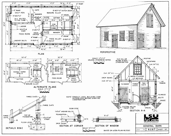 153 pole barn plans and designs that you can actually build for Simple barn home plans