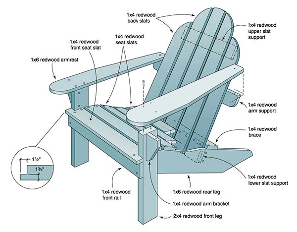 35 Free DIY Adirondack Chair Plans Ideas For Relaxing In Your Amazing Ideas
