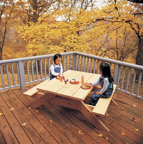 Lovely Diy Children Picnic Table