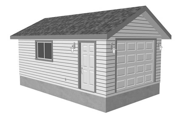 18 free diy garage plans with detailed drawings and for Single car detached garage plans