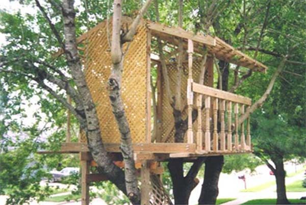 PDF Treehouse Plans 600x402?resize=600%2C402 30 diy tree house plans & design ideas for adult and kids (100% free),Easy House Plans Free
