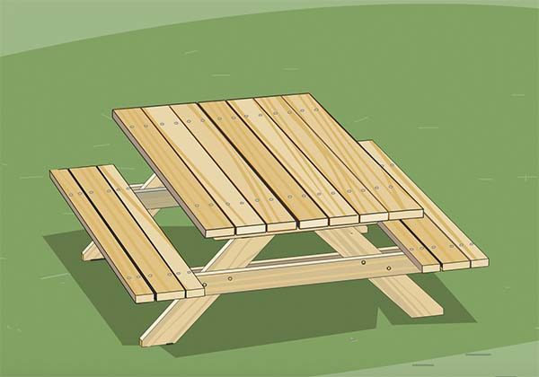 Picnic Table Plans From Ace
