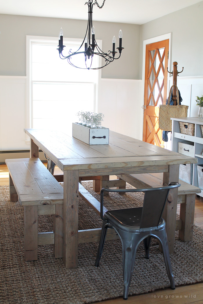 Homemade Dining Room Table Ideas Part - 39: I Love Benches At Tables. We Actually Have One At Our Kitchen Table. And  The Reason Is That It Is So Easy To Slide In As Many People As Necessary.