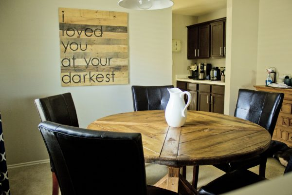 This Table Is A Little Different From What Most Have In Mind When They  Think Of A Farmhouse Table. But It Is Still Sturdy And Nice To Look At.