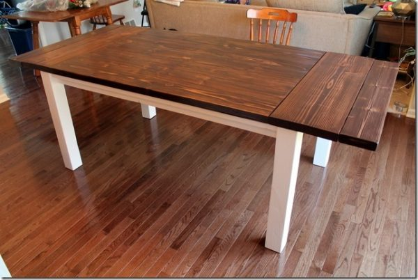 So Youd Like To Have A Farmhouse Table With Plenty Of Room When Needed But That It Could Shrink In Size You Dont Need The Added Space