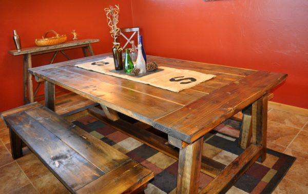 indoor kitchen picnic table plans rustic style this boat loads character so traditional give glance