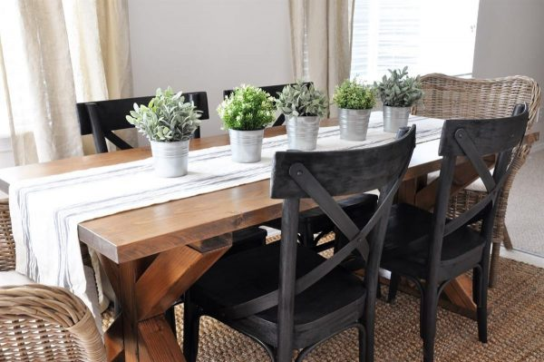 DIY Farmhouse Table Plans  Ideas for Your Dining Room Free
