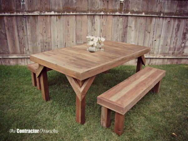 This table is absolutely gorgeous  And it is so beautiful to look at  because it is built from cedar  This isn t the usual when looking at DIY  picnic tables. 50 Free DIY Picnic Table Plans for Kids and Adults