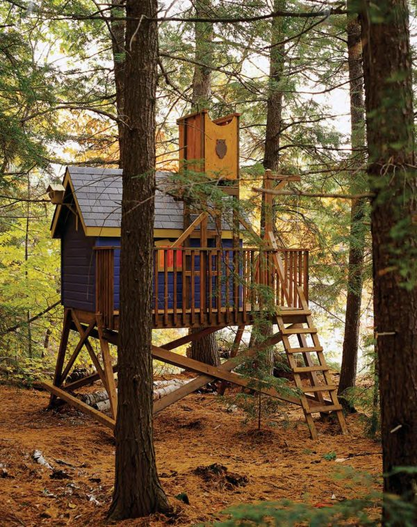 the little blue tree house t1 - Treehouse Masters Tree Houses Inside