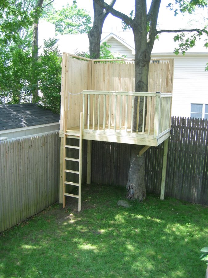 easy tree house designs. The Picket Tree Fort  t9 30 DIY House Plans Design Ideas for Adult and Kids 100 Free