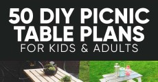 50 Free DIY Picnic Table Plans and Ideas that Will Bring Your Family Together