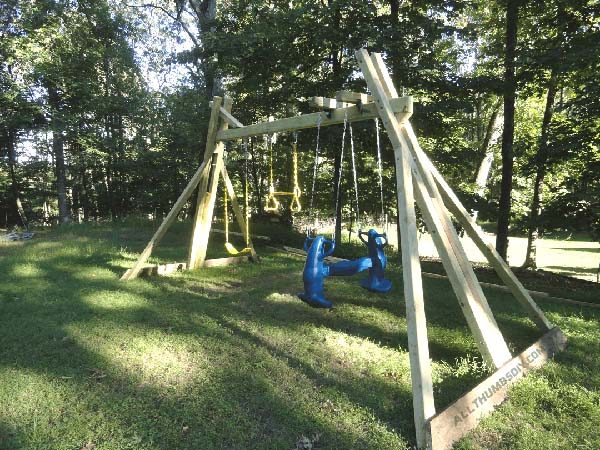 34 free diy swing set plans for your kids 39 fun backyard for Diy play structure