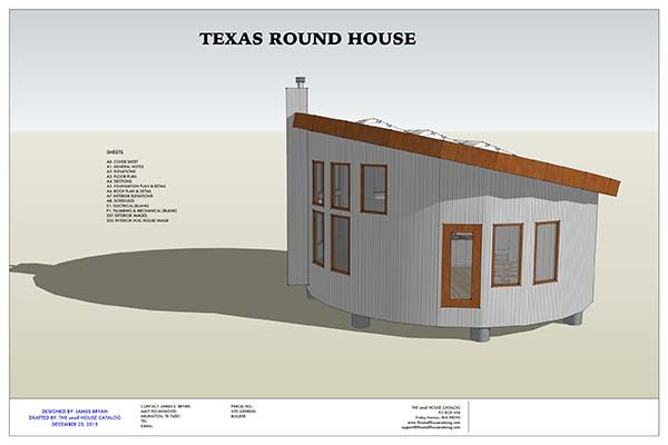 im a huge fan of round houses it has been proven that they hold up better against the elements this house plan is actually for a larger tiny house too - Tiny House Blueprints