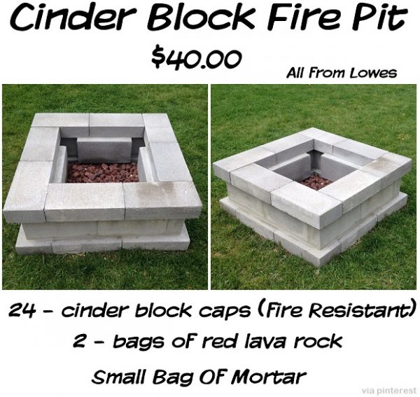 I Love This Fire Pit. My Reasoning Is That It Is Easy To Build, Cheap To  Buy The Materials, And Very Functional. This Is Literally Something You  Could Throw ...