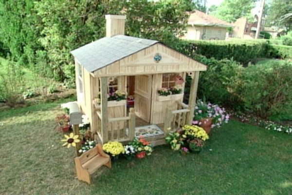 Iu0027m Going To Be Truthful. I Wish I Could Make My House Look This Good. This  Playhouse Is Beautiful Yet Rustic.