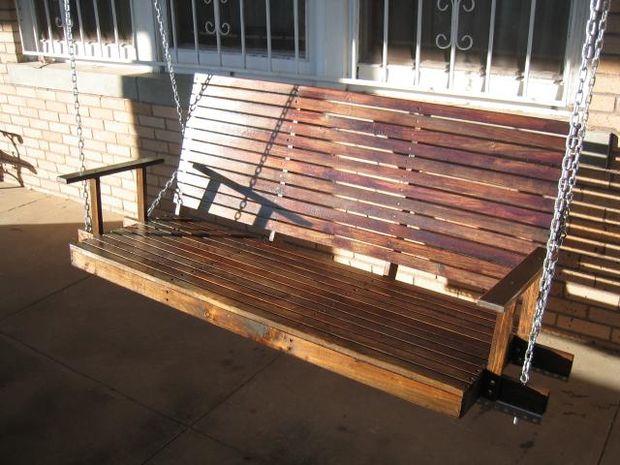 heavy duty porch swing ps13 - Wooden Porch Swings