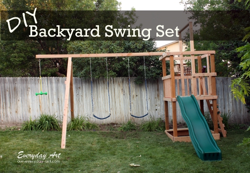this swing set looks like it could be tons of fun and it also looks like a great way for kids to be active and enjoy themselves at the same time