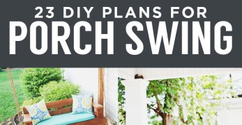 23 Free DIY Porch Swing Plans & Ideas to Chill in Your Front Porch