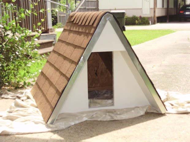 The $75 Insulated A-Frame Dog House & 36 Free DIY Dog House Plans u0026 Ideas for Your Furry Friend