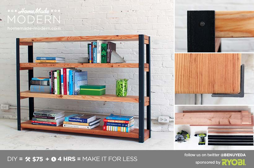 51 diy bookshelf plans ideas to organize your precious books for Diy kids bookshelf ideas