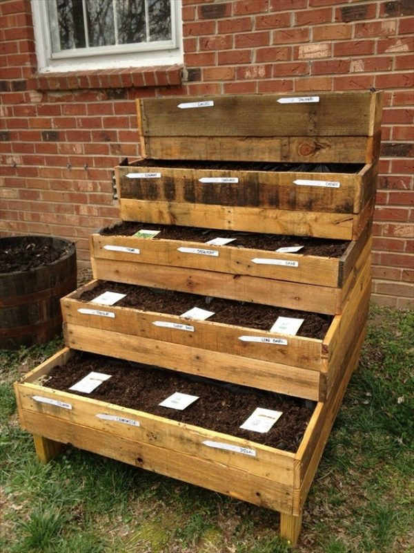 This Pallet Garden Is Different From A Lot Of Others Weu0027ve Listed Here.  This One Does A Great Job At Displaying All Of Your Flowers.
