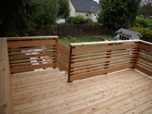 32 diy deck railing ideas designs that are sure to for Terrace tubular design