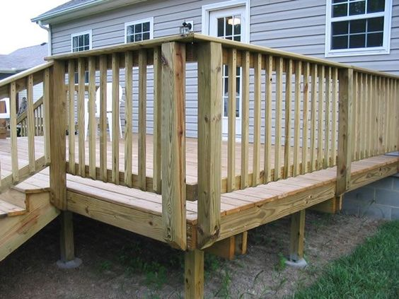 Deck With Posts Mounted On The Outside