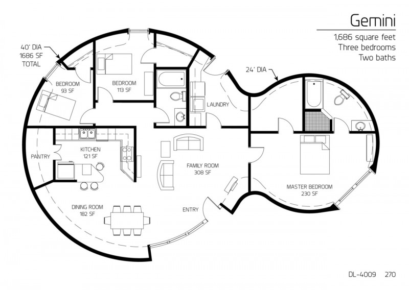 Beautiful Earthbag House Plans For A BudgetFriendly - Round house floor plans