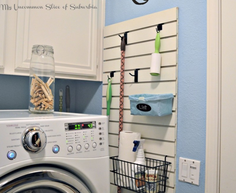 Laundry Room Storage Peg Wall