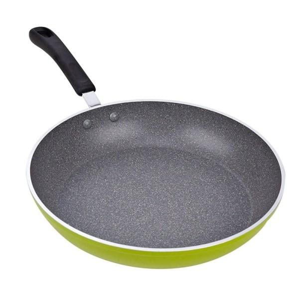 Cook N Home 12-Inch Aluminum Green Frying Pan